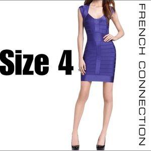Sz 4 French Connection Purple Bandage Dress